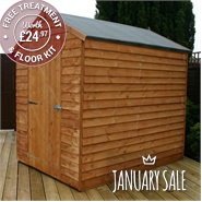 7 x 5 Waltons Windowless Overlap Apex Wooden Shed