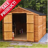 10 x 8 Waltons Windowless Overlap Apex Wooden Shed