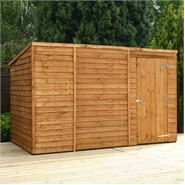 10 x 6 Waltons Windowless Overlap Pent Wooden Shed