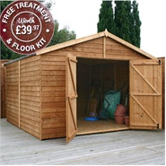10 x 10 Waltons Windowless Modular Apex Wooden Garden Workshop