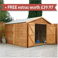 15 x 10 Waltons Windowless Overlap Apex Modular Garden Workshop
