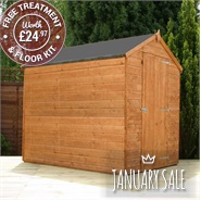 7 x 5 Waltons Windowless Tongue and Groove Apex Wooden Shed