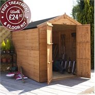 8 x 6 Waltons Windowless Tongue and Groove DD Apex Wooden Shed