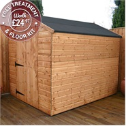 8 x 6 Waltons Windowless Tongue and Groove LD Apex Wooden Shed