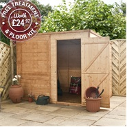 8 x 6 Waltons Windowless Tongue and Groove Pent Wooden Shed