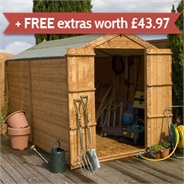 10 x 6 Waltons Windowless Tongue and Groove Apex Wooden Shed