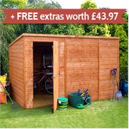 10' x 6' Walton's Select Tongue & Groove Pent Shed (No Windows)