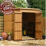 7 x 7 Waltons Windowless Tongue and Groove Wooden Corner Shed