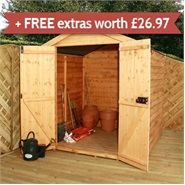 6 x 6 Waltons Windowless Shiplap Tongue and Groove Apex Garden Shed