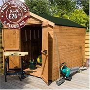 8 x 6 Waltons Windowless Groundsman Tongue and Groove Apex Garden Shed