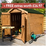 8 x 6 Waltons Windowless EasyFit Tongue and Groove Apex Garden Shed