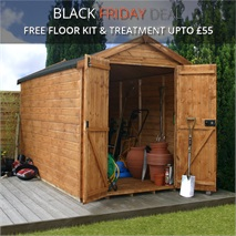 10 x 6 Waltons Windowless Groundsman Tongue and Groove Apex Garden Shed