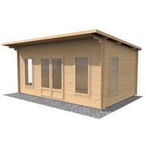 3.5m x 5m Waltons Contemporary Home Office Log Cabin