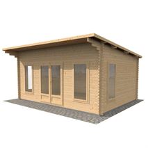 4.2m x 5.4m Waltons Contemporary Home Office Log Cabin
