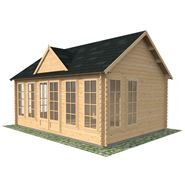 5.5m x 4m Waltons Pool House Log Cabin