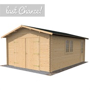 4.2m x 5.7m Waltons Garage Log Cabin