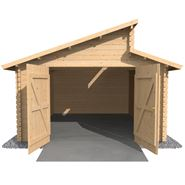 3.8m x 5.4m Waltons Garage Log Cabin