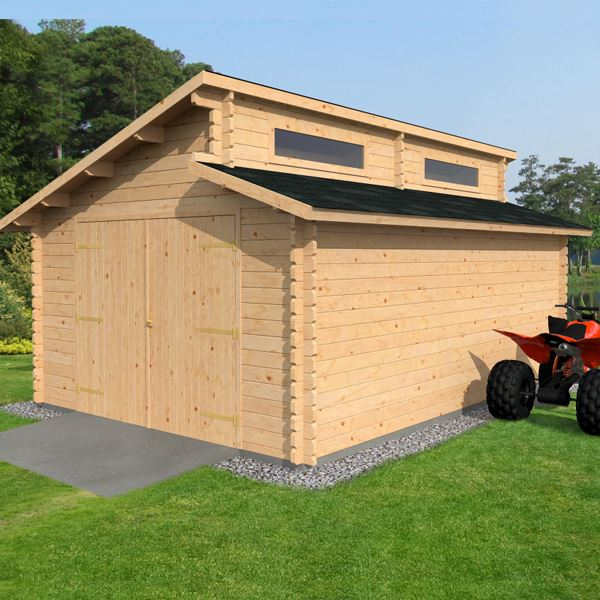 X waltons garage log cabin for Garage cabins
