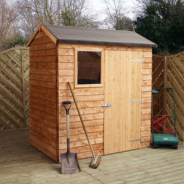 6 39 x 4 39 reverse overlap apex wood shed for Garden shed 4 x 3