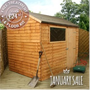 6' x 8' Walton's Reverse Overlap Apex Wooden Shed