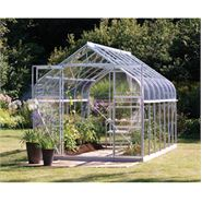 8 x 6 Vitavia Saturn Silver Apex Greenhouse