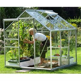 * This is an image of a Silver Venus 3800 Greenhouse with Glass Glazing.