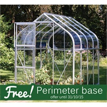 8 x 6 Vitavia Orion 5000 Silver Apex Greenhouse