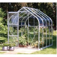 8 x 6 Vitavia Orion Silver Apex Greenhouse