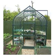 8 x 6 Vitavia Orion Green Apex Greenhouse