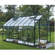 8 x 6 Vitavia Saturn Green Apex Greenhouse