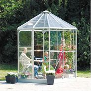 8 x 7 Vitavia Hera Silver Glass Greenhouse