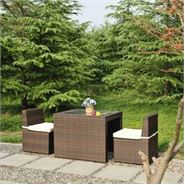 2 Seater Cannes Mocha Brown Breakfast Furniture Set