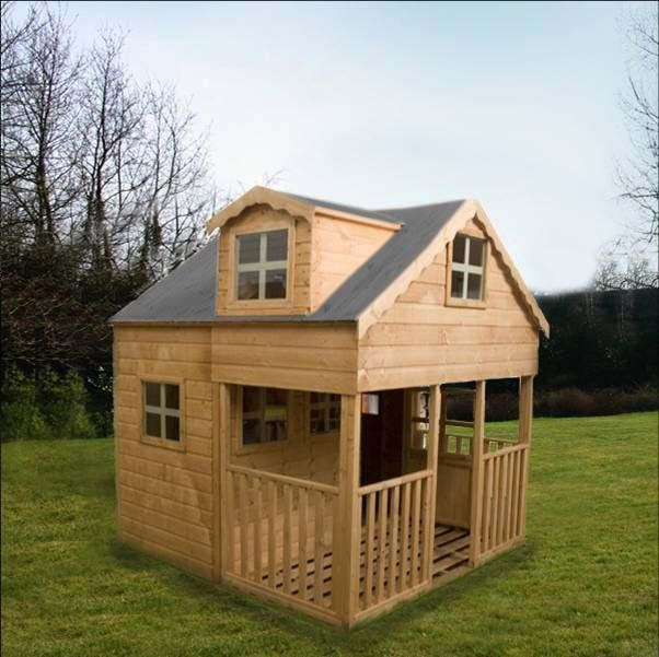 7 x 7 waltons dorma window outdoor playhouse for Wooden wendy house ideas