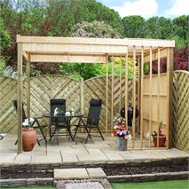 11 x 7 Waltons Contemporary Garden Shelter with BBQ Area