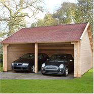 6m x 6m Waltons Field Barn Wooden Garage