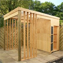 11 x 7 Waltons Contemporary Shelter with Side Storage