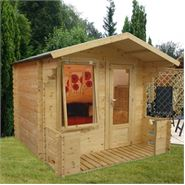 8 x 9 Waltons Play Den with Veranda Wooden Playhouse