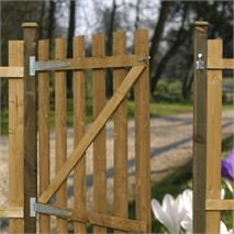 3ft x 3ft Waltons Flat Top Picket Garden Gate