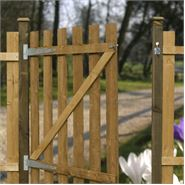 4ft x 3ft Waltons Flat Top Picket Garden Gate