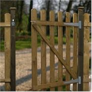 3ft x 3ft Waltons Round Top Picket Garden Gate