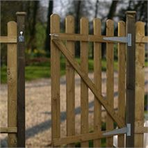 4ft x 3ft Waltons Round Top Picket Garden Gate