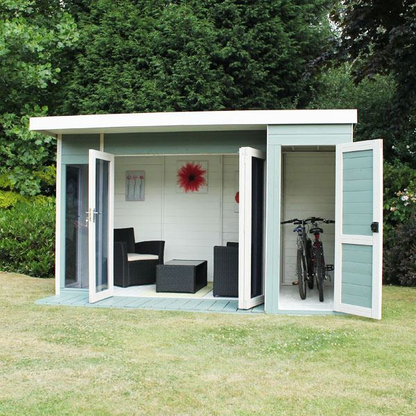 12 x 8 waltons contemporary summerhouse with side shed lh for 10 x 8 garden room
