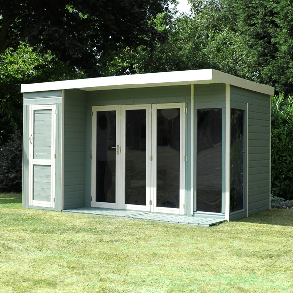 10 x 8 waltons contemporary summerhouse with side shed lh for 10 x 8 garden room