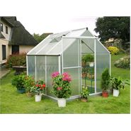 6' x 6' Nison Natural Polycarbonate Greenhouse