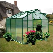 6' x 8' Nison Green Polycarbonate Greenhouse