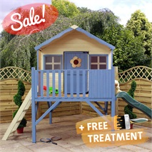 "13' 8"" x 6' 6""  Honeysuckle Playhouse with Tower & Slide"