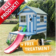 4' x 4' Honeypot Snug Tower & Slide Playhouse