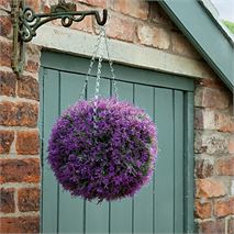 Gardman 30cm Purple Heather Effect Topiary Ball
