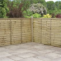 4 x 6 Waltons Pressure Treated Lap Garden Fence Panel
