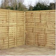6 x 6 Waltons Pressure Treated Lap Garden Fence Panel